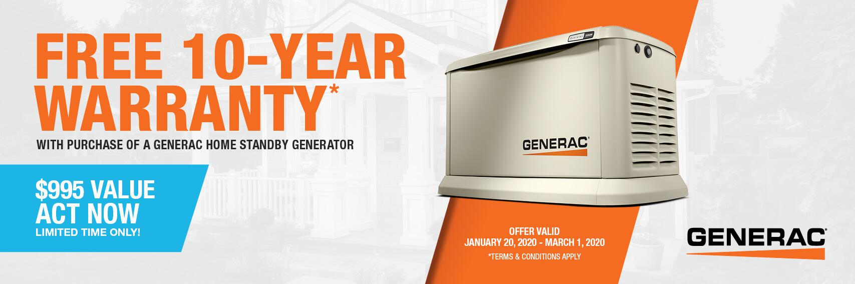 Homestandby Generator Deal | Warranty Offer | Generac Dealer | Woodbine, NJ